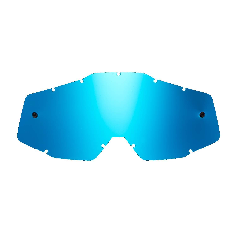 Lente di ricambio blu specchiato compatibile per occhiale/maschera 100% Race/Str/ Acc/Mer