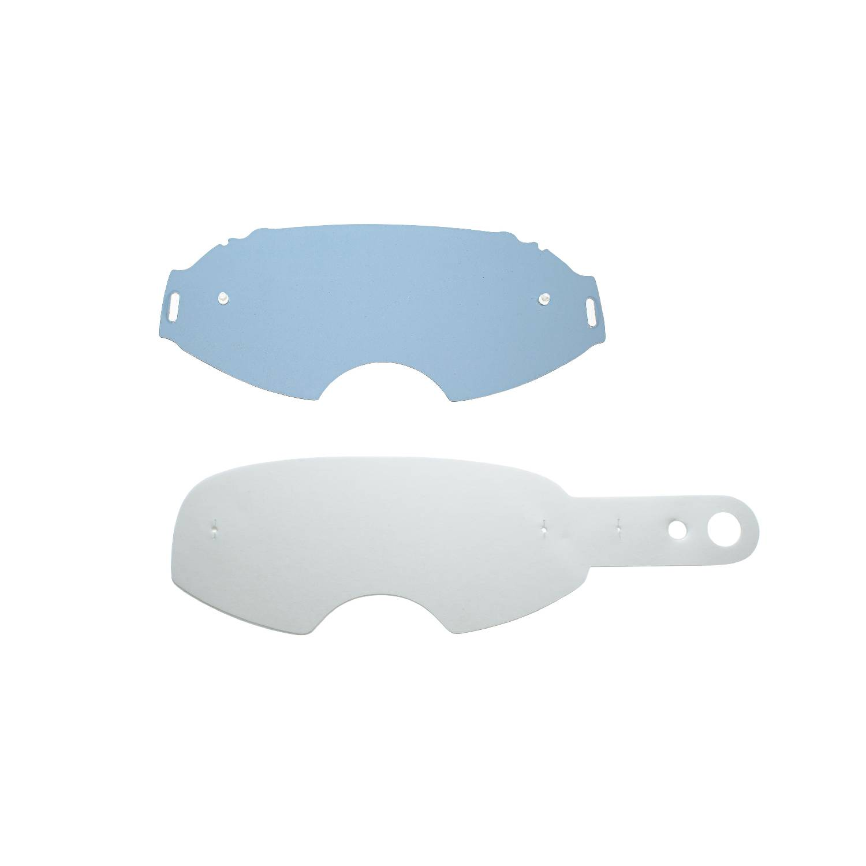 lente fumè + 10 Strappi (combo) compatibile per maschera Oakley Airbrake Flat